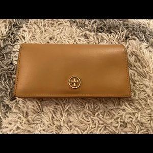 Tory Burch Tan Continental Wallet